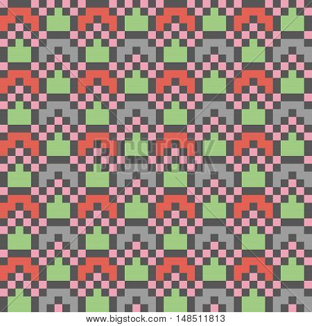 Abstract modern seamless stitching pattern in desaturated colors. Vector illustration