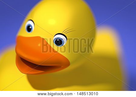 3d rendering of a sweet rubber ducky