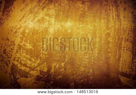 grunge golden iron mesh background