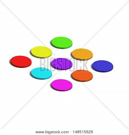 Dots color background. Vector illustration for design. 3d isometric circle.