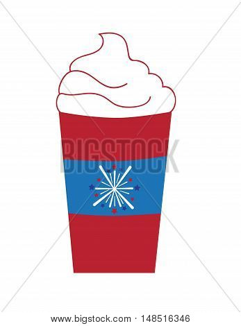 Red White Blue 4th of July Firework Coffee