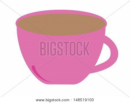 Isolated Pink Coffee Espresso Mug Drink Beverage