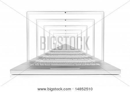 laptop computer network/internet concept