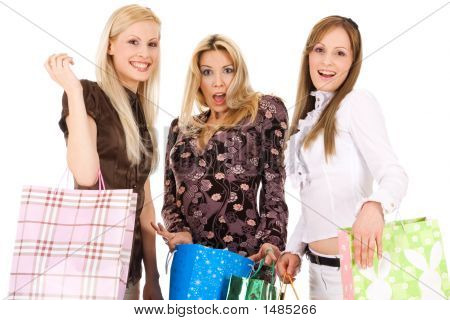 Beautiful Girls Going Shopping