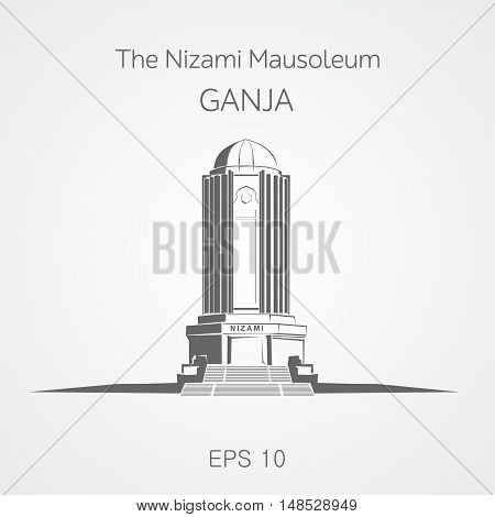 Nizami mausoleum located in Ganja city. Azerbaijan.