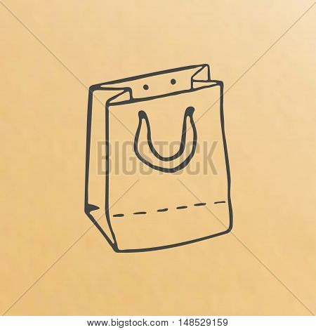 image of paper bag scetch packing hand drawn
