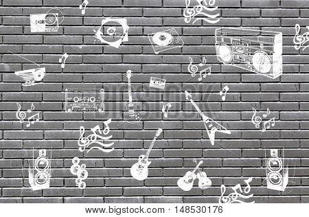 Bricks With Symbols Of Music