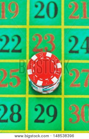 Betting on Roulette number 26