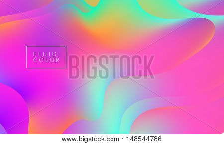 Fluid colors wallpaper. Bright colorful shapes overlap. Eps10 vector illustration.