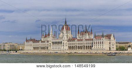 Parliament Building in Budapest landmark nature background