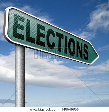 elections to get new government or president free election for new democracy local national voting poll 3D, illustration