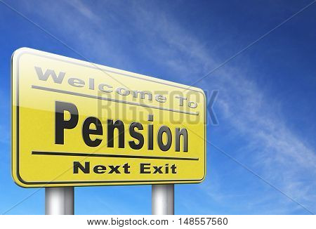 Pension fund and retirement regulation, a plan for insurance and social security. 3D, illustration