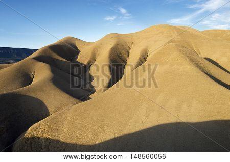 Loam landscape in Artieda, Pyrenees, La Jacetania, Zaragoza, Arag�³n, Spain.