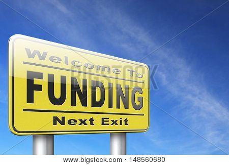 Funding for welfare collection fund raising for charity money donation for non profit organization. 3D, illustration
