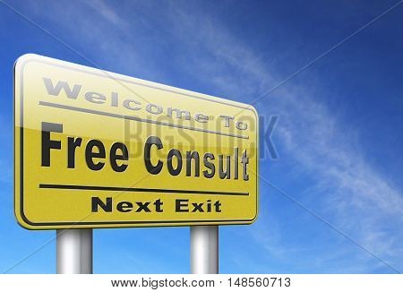 free consult icon help desk and customer support. Gratis custom consultation service and advice.  3D, illustration