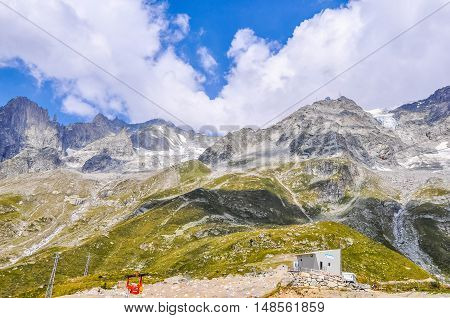 Hdr Mont Blanc In Aosta Valley