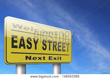 easy street, keep it simple no risk and safe solution 3D, illustration