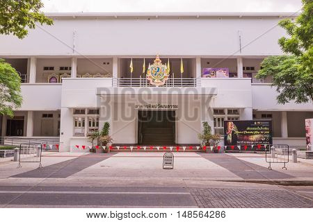 Bangkok Thailand - June 5 2016 : Culture building the Faculty of Art Chulalongkorn University