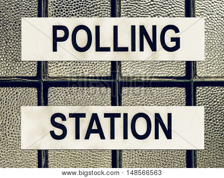 Vintage Looking Polling Station