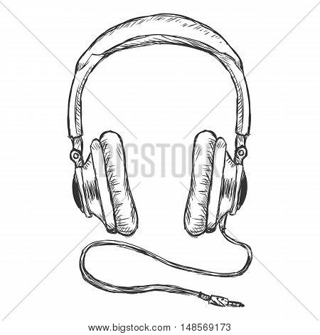 Vector Single Sketch Circumaural Headphones With Wire