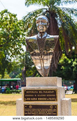 Havana, Cuba - April 1, 2012: Monument Of Paraguayan Lawyer De Francia