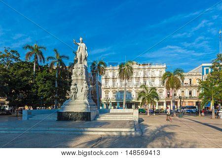Havana, Cuba - April 2, 2012: Statue Of Jose Marti, Havana, Cuba