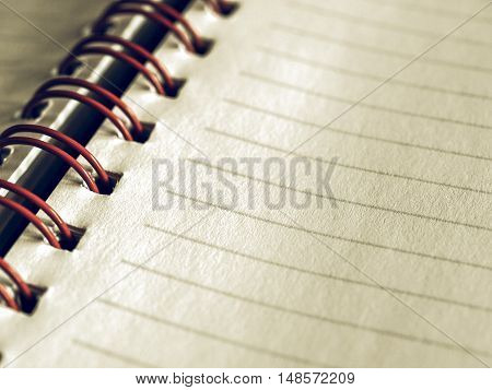Vintage Looking Blank Notebook Page
