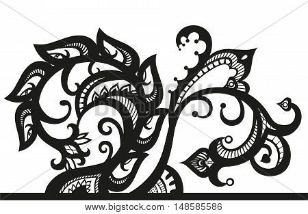 Lace ornaments in ethnic style. Element in free form made in vector. Perfect cards for any other kind of design