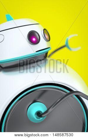 3d rendering of a sweet robot detail