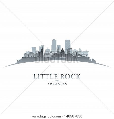 Little Rock Arkansas City Silhouette White Background
