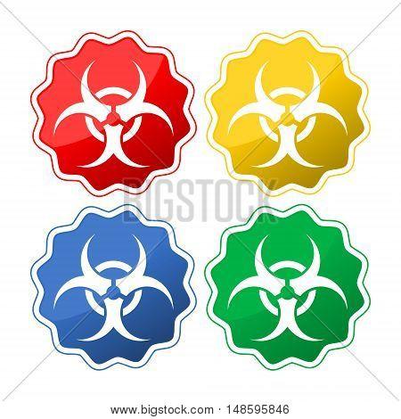 Biohazard icon, Biohazard icon eps10 set on white background
