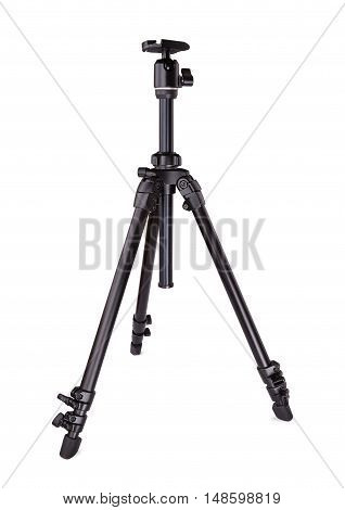 Tripod for photo video. Isolated on white