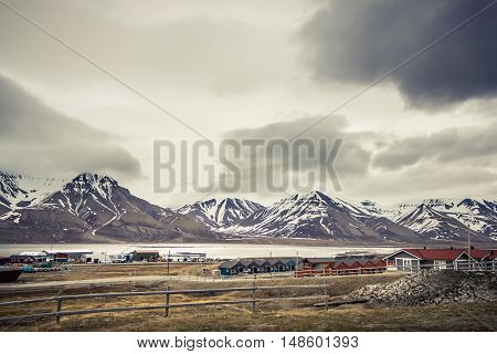 Northern Norway Longyearbyen city in Spitsbergen Svalbard