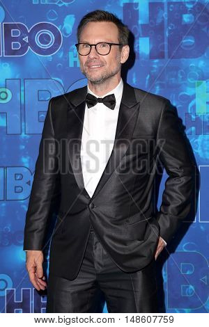 LOS ANGELES - SEP 18:  Christian Slater at the 2016  HBO Emmy After Party at the Pacific Design Center on September 18, 2016 in West Hollywood, CA