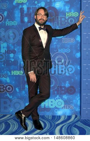 LOS ANGELES - SEP 18:  Martin Starr at the 2016  HBO Emmy After Party at the Pacific Design Center on September 18, 2016 in West Hollywood, CA