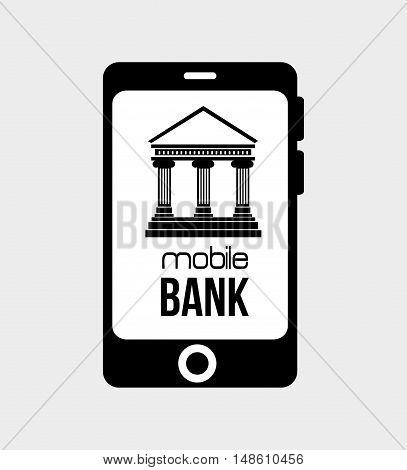 mobil bank virtual money isolated vector illustration