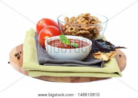 Georgian sauce Satsebeli with tomatoes and nuts