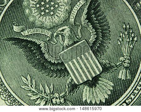 US dollar bill currency sign paper bill USA