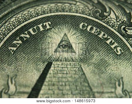 US dollar bill currency sign USA treasury
