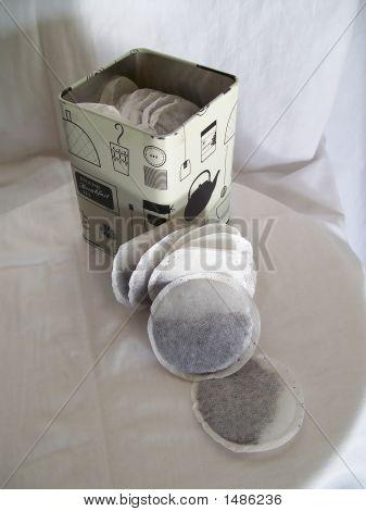 Teabags In A Metal Tin