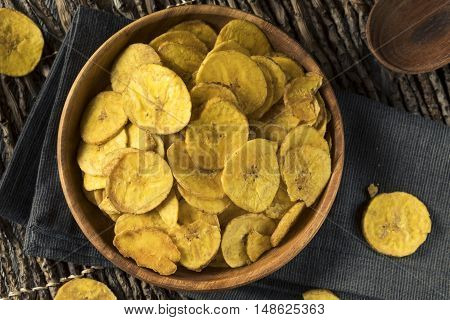 Healthy Homemade Plantain Chips with Sea Salt poster
