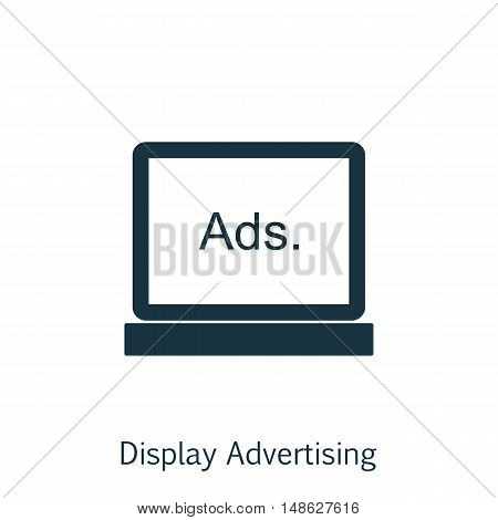 Vector Illustration Of Seo, Marketing And Advertising Icon On Display Advertising In Trendy Flat Sty