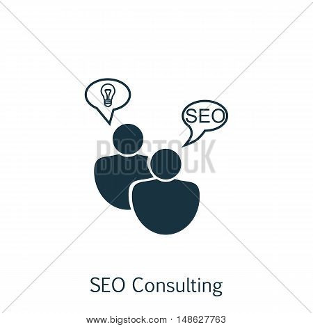 Vector Illustration Of Seo, Marketing And Advertising Icon On Seo Consulting In Trendy Flat Style. S