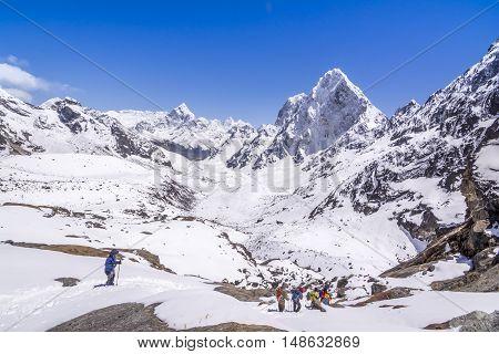 Everest Base Camp Trekking: Trekkers were about the cross