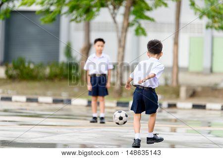 Boy Play Football