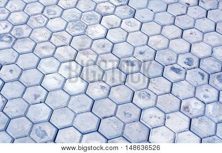 Blue Pavement Close-up Surface.