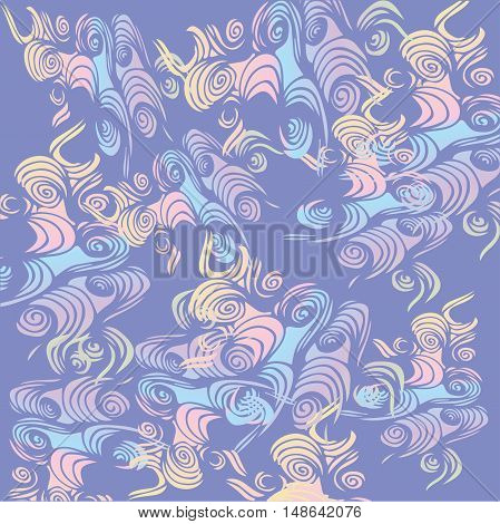 abstract pattern in violet and pale pink colors. Vector illustration.abstract purple background with wavy lines or ribbons in random pattern