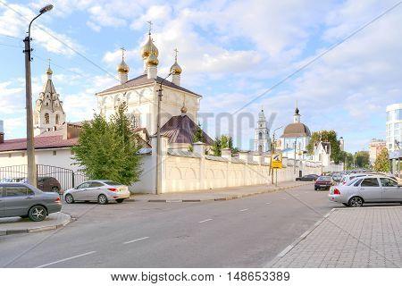 BELGOROD RUSSIA - August 31.2016: The territory of the Marfo-Mariinsky Convent. Pokrovsky Church