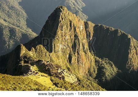 Overview from Macchu Picchu Montana Mountain, in Cusco Peru
