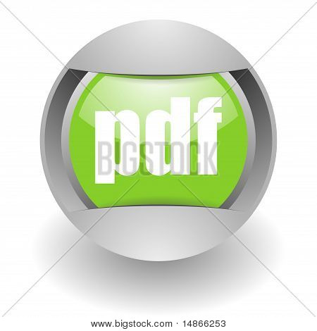 pdf steel green glossy icon